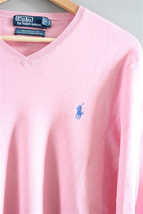 Sweater Unisex Polos Pink ralph polo sweater pink soft 100 pima cotton