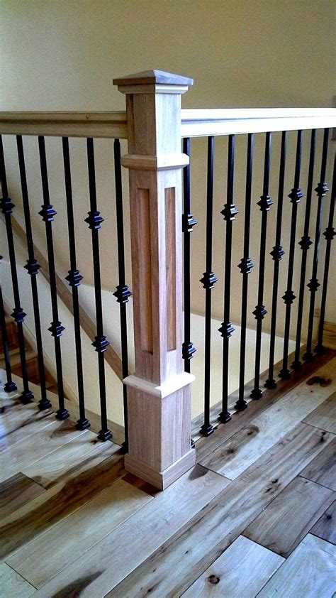Newel L by Box Newel Post Recessed Panel Mission Style 5 Hickory