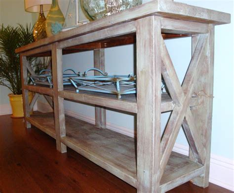 rustic console table with storage custom diy narrow modern rustic wood console table with