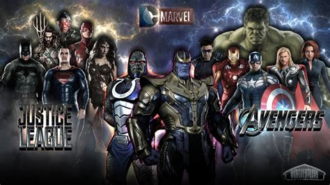 libro justice league the darkseid avengers x thanos vs justice league x darkseid by marcjustcons on