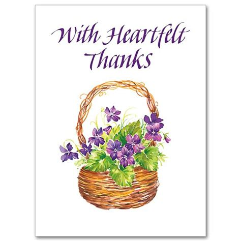 Heartfelt Thank You Note To with heartfelt thanks thank you card