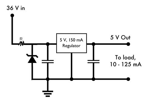 voltage regulator with zener diode using a zener diode to ease a voltage regulator electrical engineering stack exchange