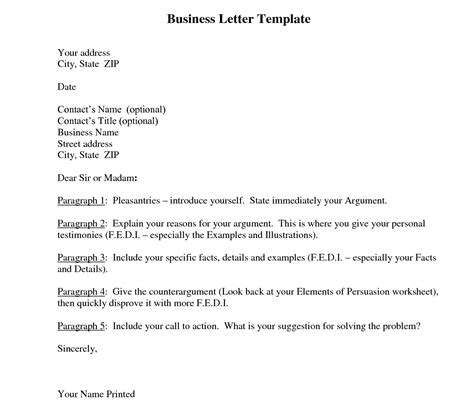Business Letter Template Word 7 formats of business letter template word pdf
