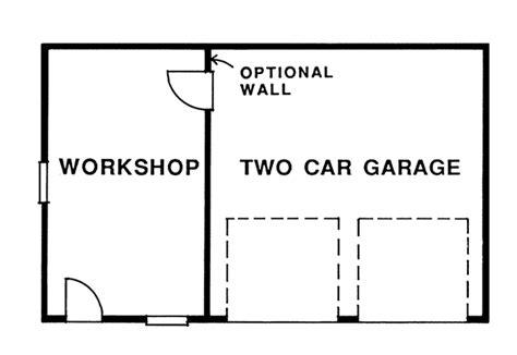 garage floor plans with workshop kamelia two car garage plan 063d 6010 house plans and more