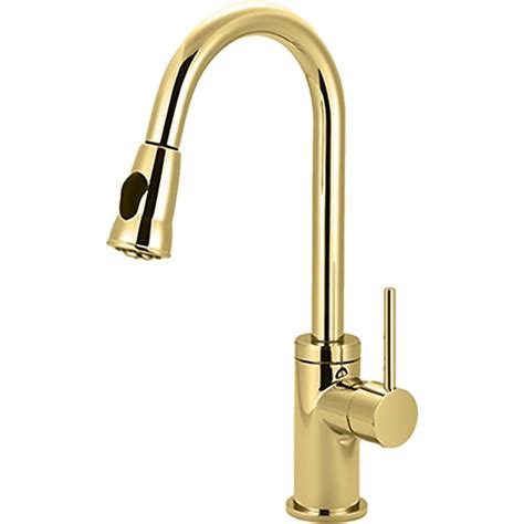 polished brass kitchen faucet pioneer 2mt250 pb single handle pull kitchen faucet