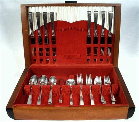 antique  community silver plate flatware  pc set