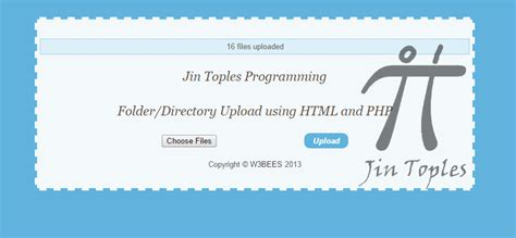 cara membuat upload file dengan php cara membuat upload folder dengan html5 dan php jin