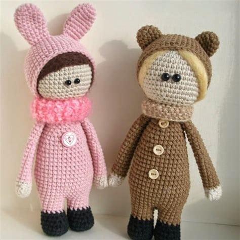 dolls animals dolls wearing animal costumes amigurumi today