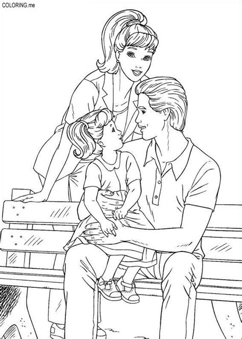 coloring page barbie ken and their children coloring me