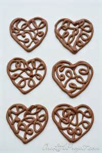 Chocolate Filigree Templates by Chocolate Hearts Part 2 How To Make Chocolate Filigree Hearts