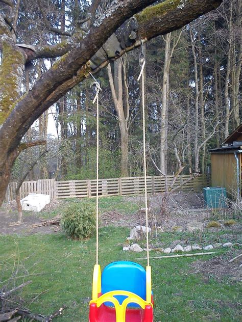 how to hang a baby swing without a tree maintenance how to make a swing swing straight home