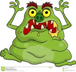 ugly monster cartoon stock images image 29184854