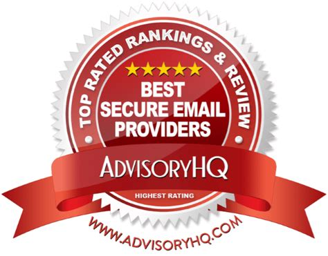 best email provider top 6 best secure email providers 2017 ranking most