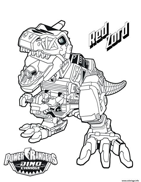 power rangers dino charge megazord coloring pages coloriage power rangers dino charge red zord dessin