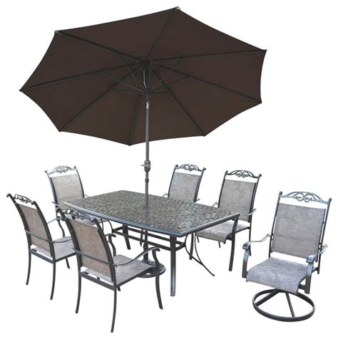 Outdoor Dining Sets Houzz 9 Pc Outdoor Dining Set Contemporary Outdoor Dining