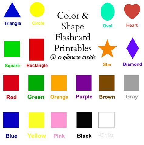 free printable shapes and colors flashcards a glimpse inside color and shape flashcard printables