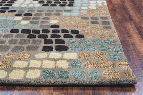 mosaic pattern rug pandora mosaic pattern wool area rug in grey black taupe