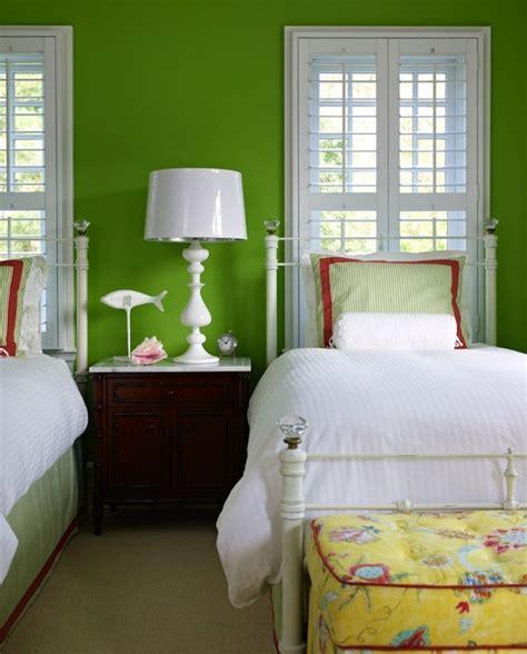 apple green bedroom apple green walls transitional s room