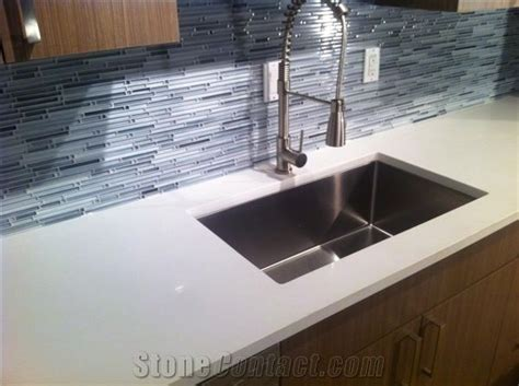 Quartz Countertop With Undermount Sink Cut Out Sealed And