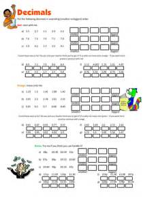 ordering decimals worksheet by floppityboppit teaching