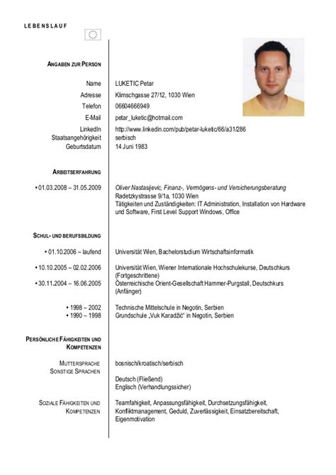 Lebenslauf Vorlagen Microsoft Office Cv Petar Luketic