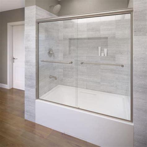 menards glass shower doors basco infinity 4400 frameless sliding tub enclosure 1 4