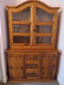 mexican solid pine hutch sideboard dresser display