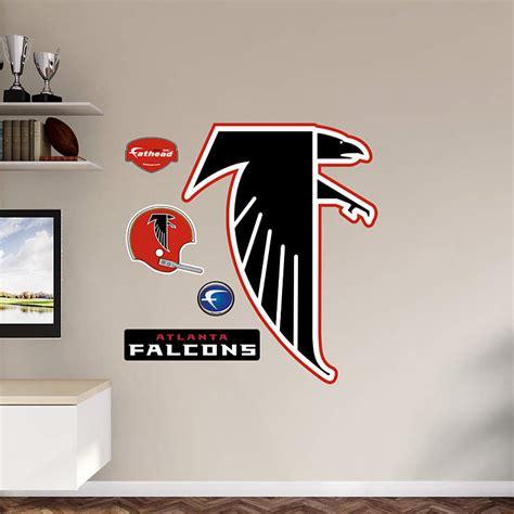 atlanta falcons home decor atlanta falcons classic logo wall decal shop fathead