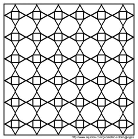 geometric tessellations coloring pages geometric coloring pages