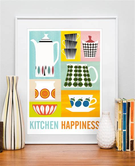 Etsy Kitchen Prints by Kitchen Print Poster Mid Century Poster For Kitchen
