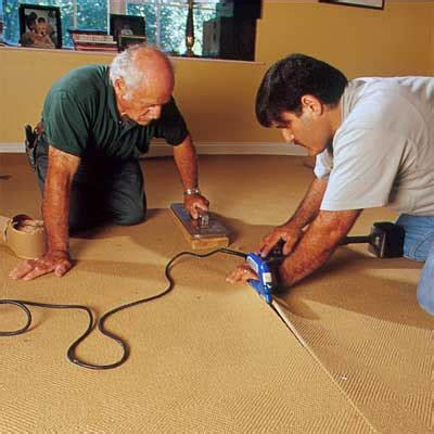 can you install carpet on steps witout tack strips seam together adjoining pieces how to install carpeting
