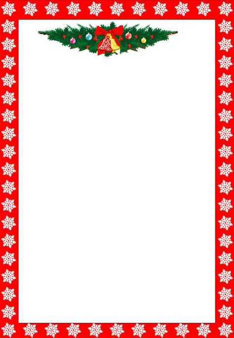 Christmas Letter Border Template Collection Letter Template Border