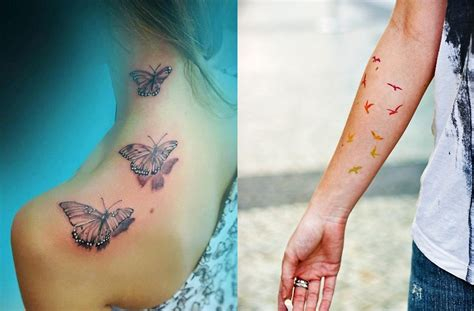 small colorful bird tattoos pop culture and fashion magic small tattoos ideas