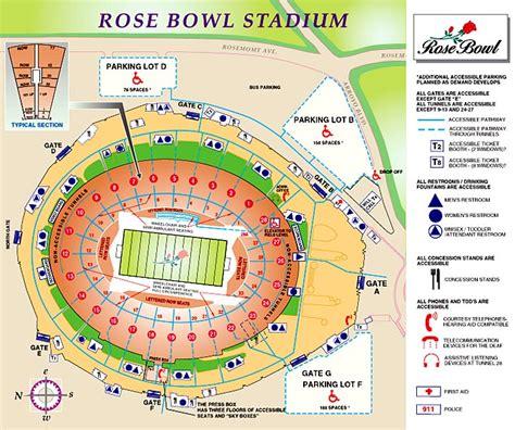 rosebowl seating chart bowl pasadena tickets