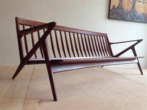 Kursi Eames mid century modern teak lounge z sofa poul selig wegner eames era teak mid