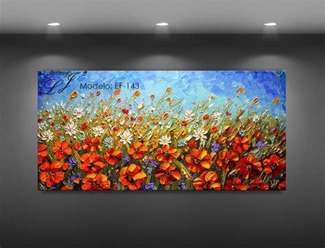 cuadros pintados a espatula cuadros de flores al oleo c esp 225 tula 100 a mano arte
