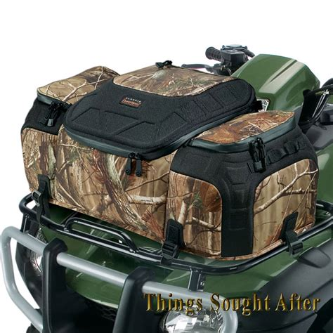 camo evolution front rack bag for atv cargo luggage gear