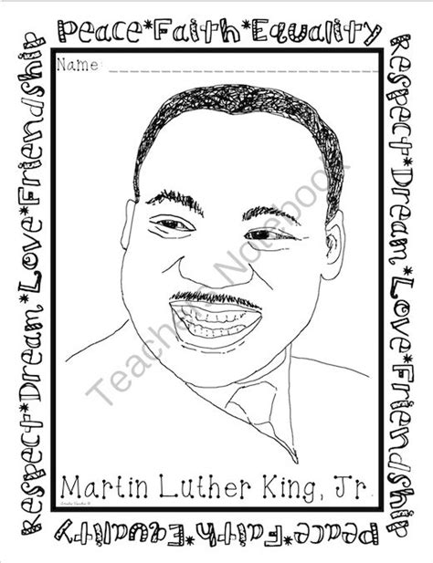 coloring page of dr king 91 free coloring pages martin luther king printable