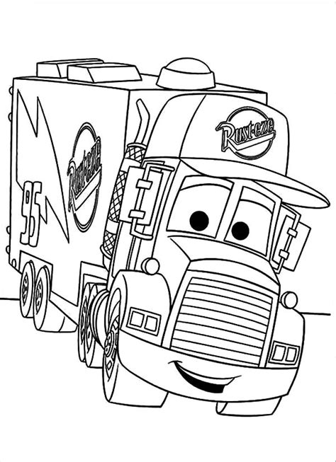 car carrier coloring page car transporter mack the truck coloring pages best place