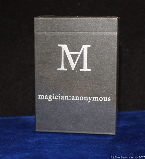 card anonymous magicians anonymous cards deck review bicycle
