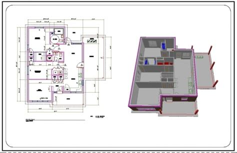 home design 3d export to cad autocad 2d plan in full dimension house plan ideas