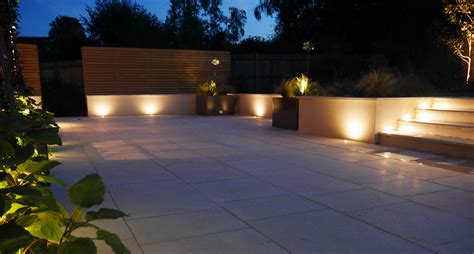patio lights uk garden lighting tunbridge area slate grey