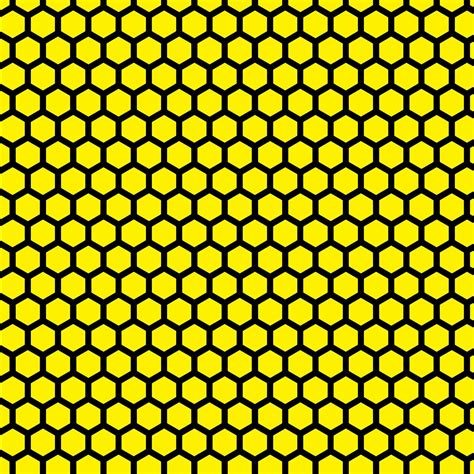 Yellow Honeycomb Pattern | doodlecraft 15 colorful hues hexagon honeycomb background