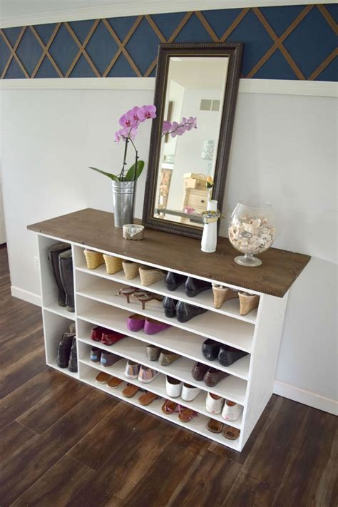 diy shoe storage for small stylish diy shoe rack for any room