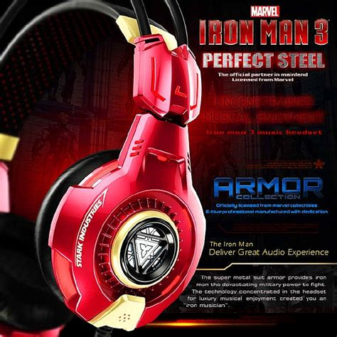 E Blue Marvel Bluetooth Headset Stereo Iron 1 e blue marvel iron 3 edition armor collection
