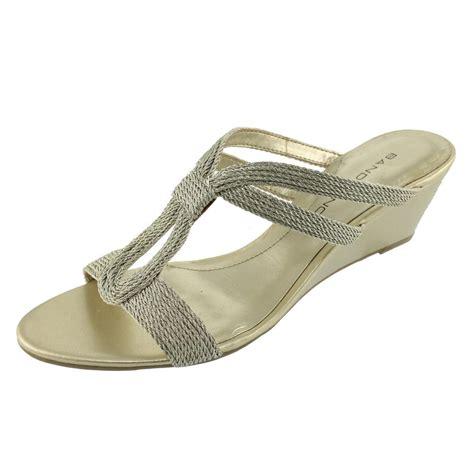bandolino sandals bandolino new anippe gold metallic shoes wedges sandals 7