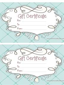 diy gift voucher template free gift certificate template customizable
