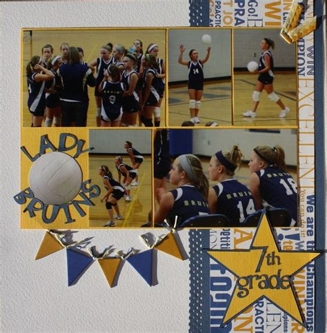 scrapbook layout ideas for volleyball lady bruins 7th grade scrapbook com sports and