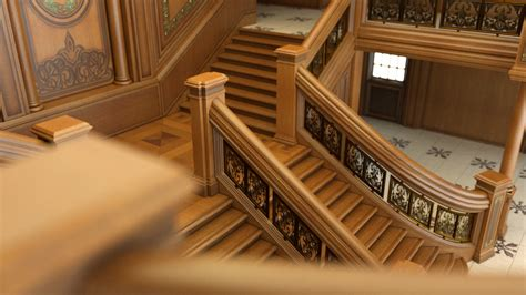 Amazing Floor Plans grand staircase dof by pret a 3d on deviantart