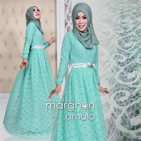 Gamis Pesta Hijau Tosca amala hijau tosca baju muslim gamis modern